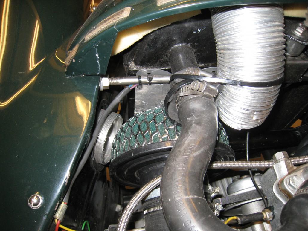 Air filter and extra air intake