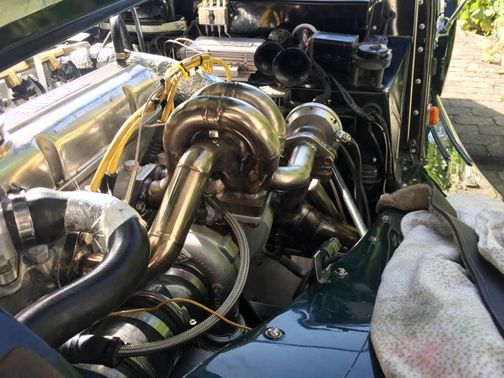 MK3 turbo manifold installed in Morgan