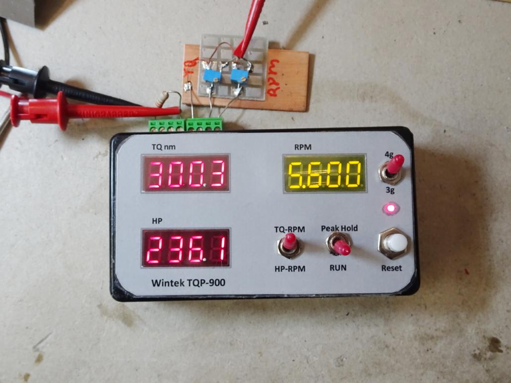 TQP Display Unit. Engine TQ nm, HP, RPM