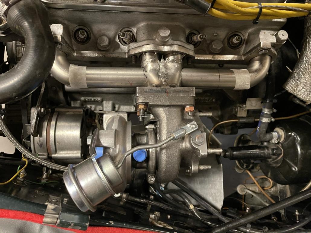 Turbo manifold MK4 set-up top view