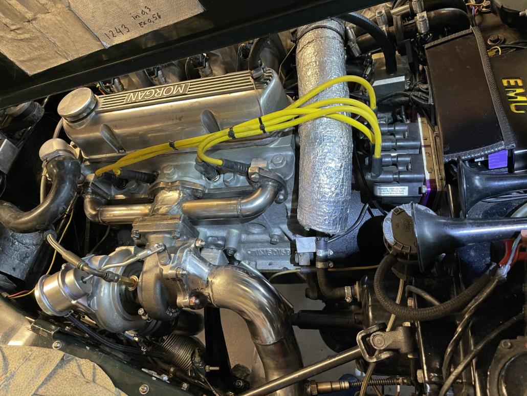 Turbo manifold MK4 and Mitsubishi turbo installed