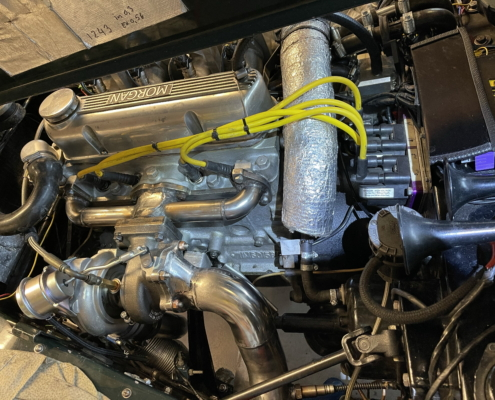 Turbo manifold MK4 and Mitsubishi turbo installed